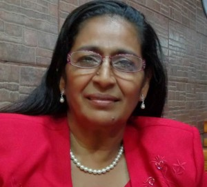 Pastora Blanca Rocha de Martínez llega desde Managua, Nicaragua.