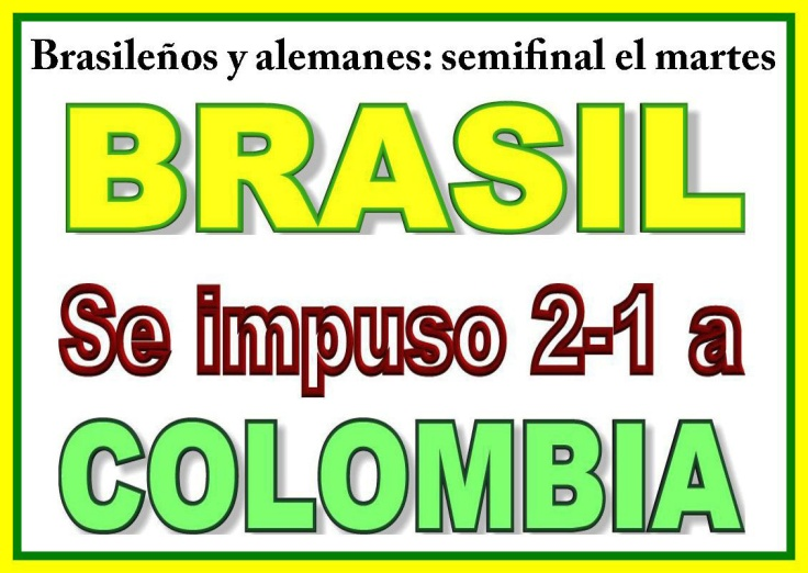 Brasil 2-1 a Colombia