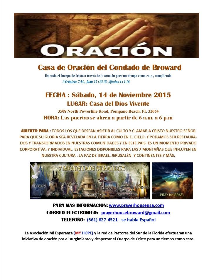 11-14-15 Casa Del Dios Viviente - SPANISH